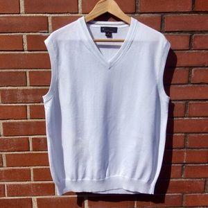 NWOT Brooks Brothers white v-neck sweater vest